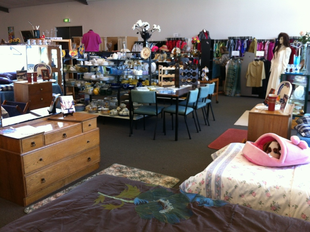 Arohanui Hospice Store – somebody's trash is another's treasure.